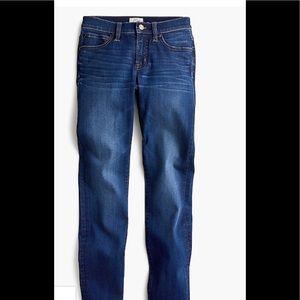 "J Crew 8"" Toothpick jeans medium wash size 26"